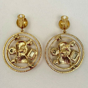 Oscar de la Renta Jewelry - Oscar de la Renta Open Coin-Drop Clip-On Earrings